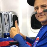 Anthony Rizzo Wears His Full Uniform on Team Plane to DC