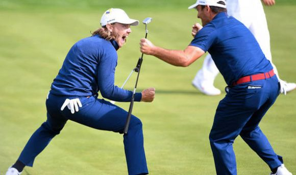Ryder Cup: Finau's Wacky Bounce Can't Stop a EuroWave