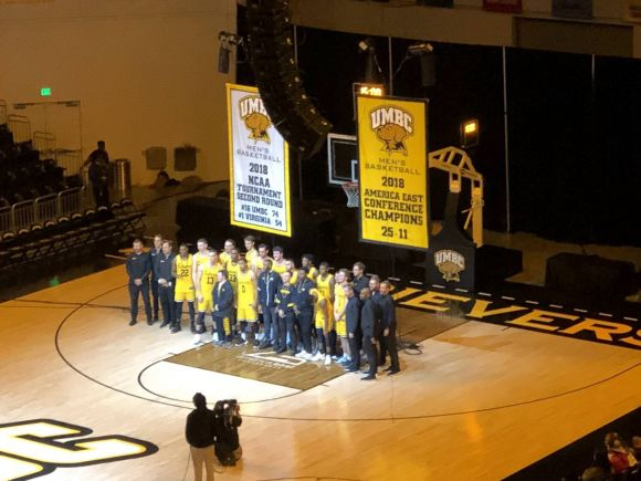 UMBC Commemorates Their Historic NCAA Tourney Upset with a Lovely Banner