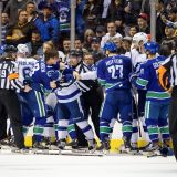 Lightning and Canucks Dedicate the Second Period to Old-Time Hockey