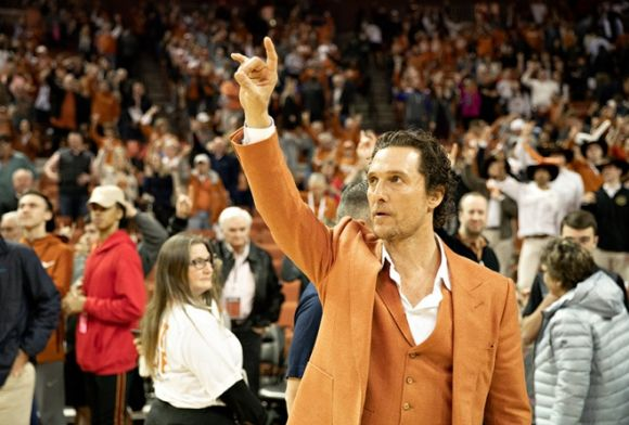 Faux Longorns Hoops Coach Matthew McConaughey Bleeds Burnt Orange