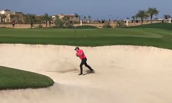 Sergio García Throws Adolescent Tantrum in the Sand During a European Tour Event