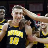 Iowa Beats the Buzzer Again, This Time with a Kiss