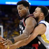 NBA Finals: Curry's 47 Can't Overcome Dubs' Swiss-Cheese D; Raptors Cruise in Game 3