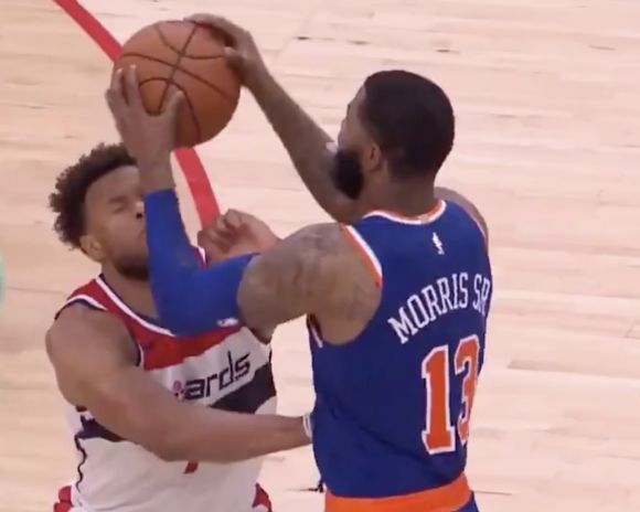 Marcus Morris Sends Apparent Message by Slamming Ball on Opponent's Head