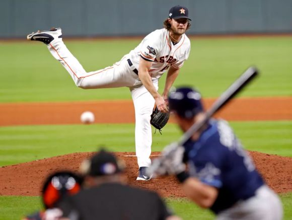 World Series: Cole Cuffs Nats' Bats as Astros Pound Out Game 5 Win