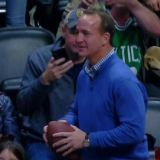 Peyton Manning Yuks It Up with Rocky at a Nuggets Game