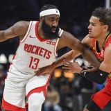 Harden, Trae Young Match 40-Point Triple-Doubles in Same Game