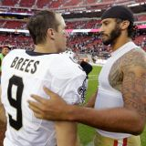 Brees Gets Twitter-Sacked, Gets Back Up on One Knee