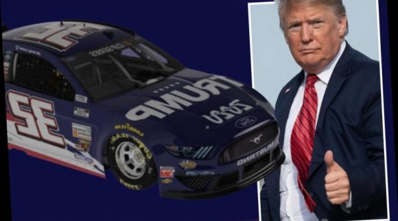 The Trump 2020 Car Waves and Early Bye-Bye at the Brickyard 400