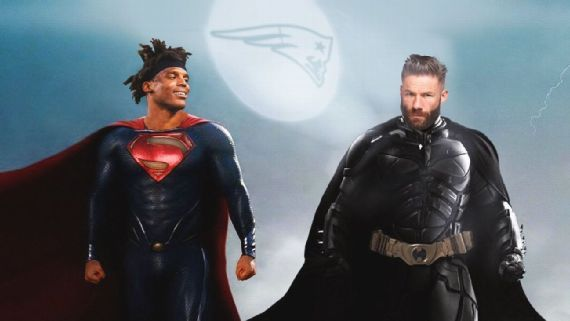 Julian Edelman Engages in Superhero Cosplay with His New Best Bud Cam Newton