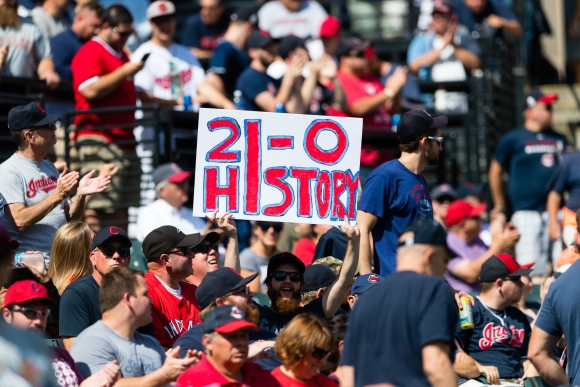 Cleveland Wins 21st Straight; Claim the AL Streak Record