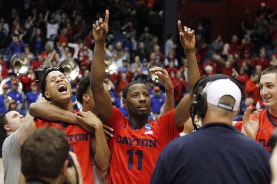 Dayton Does a Happy Dance at Home