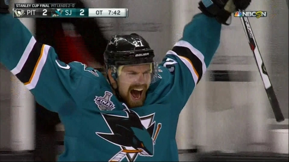 Whaddya Know! High Blocker Side Wins Game 3 in OT for Sharks