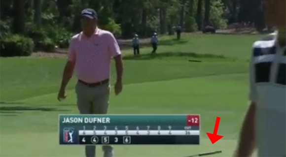 Jason Dufner Leaves Putter on Green for Caddie