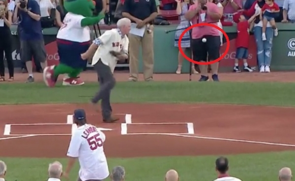 Fenway First Pitch Proves Painful for Camera Operator