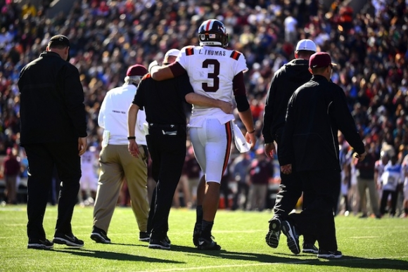 Virginia Tech QB Logan Thomas Gets Absolutely Destroyed in Sun Bowl