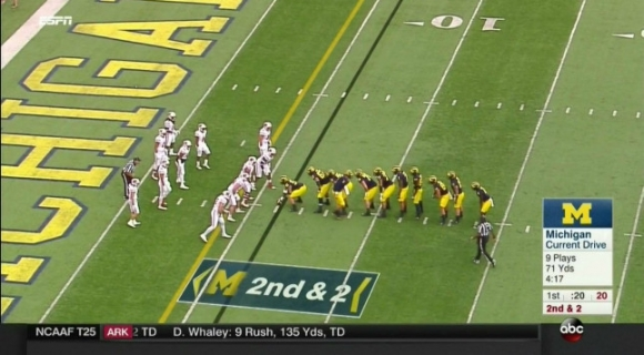 Michigan Unleashes the Centipede Formation ... Again