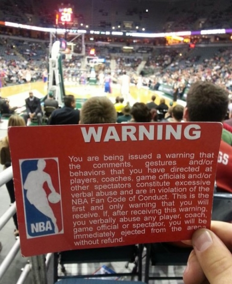 The People's Code: NBA Fans to Issue Warnings to Bad Teams
