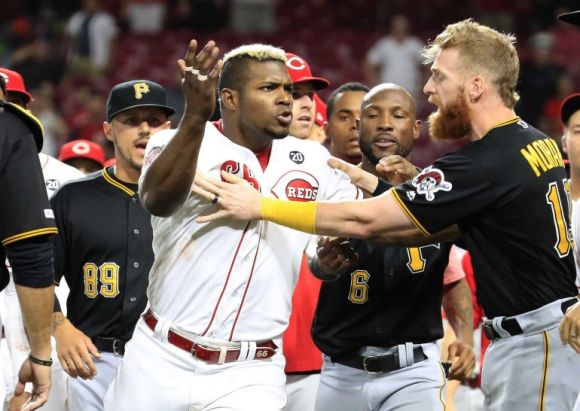 Puig's Final Hits with the Reds Are with His Fists