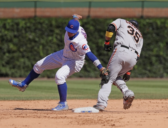 Javy Baez and the Magical Swipe Tag