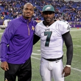 Adrian Peterson and Michael Vick