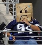 The safest headgear for Cowboys fans these days.