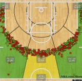No, that's not a hedge. That's Curry's shot chart.