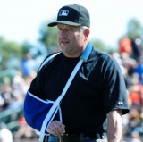 Cubs voice opinion on Gay umpires by beaning Dale Scott.