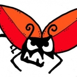 Injury bug with football wings. If we had to explain it, then it mustn't be art.