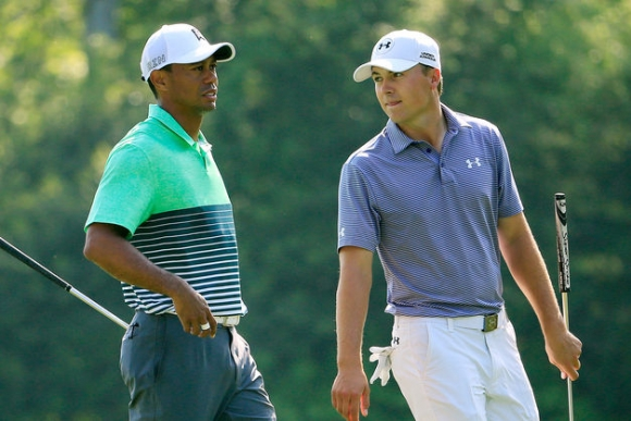 Masters at the Turn: Spieth Soars, Stenson Snaps, Tiger Hints