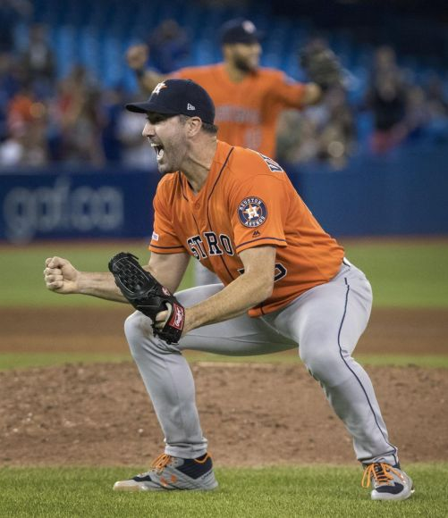 Verlander No-No's Blue Jays Again; It's His Third Overall