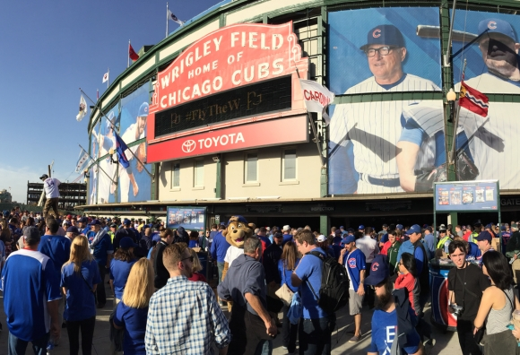 Best Behaved Fans in Baseball: Wrigley Field League Championship Playoff Attendees